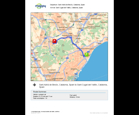 Mappy for HP ePrinter (Route)