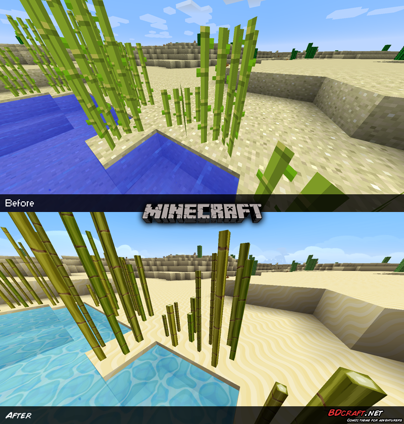 Minecraft Sugarcanes Default / PureBDcraft