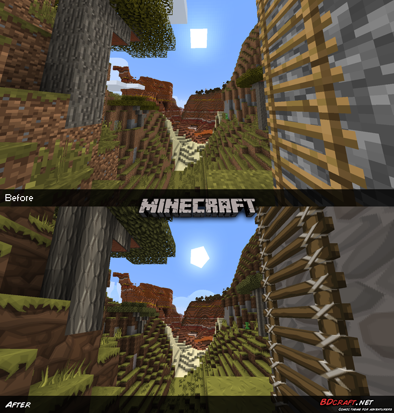 Minecraft Ladder near a Canyon Default / PureBDcraft