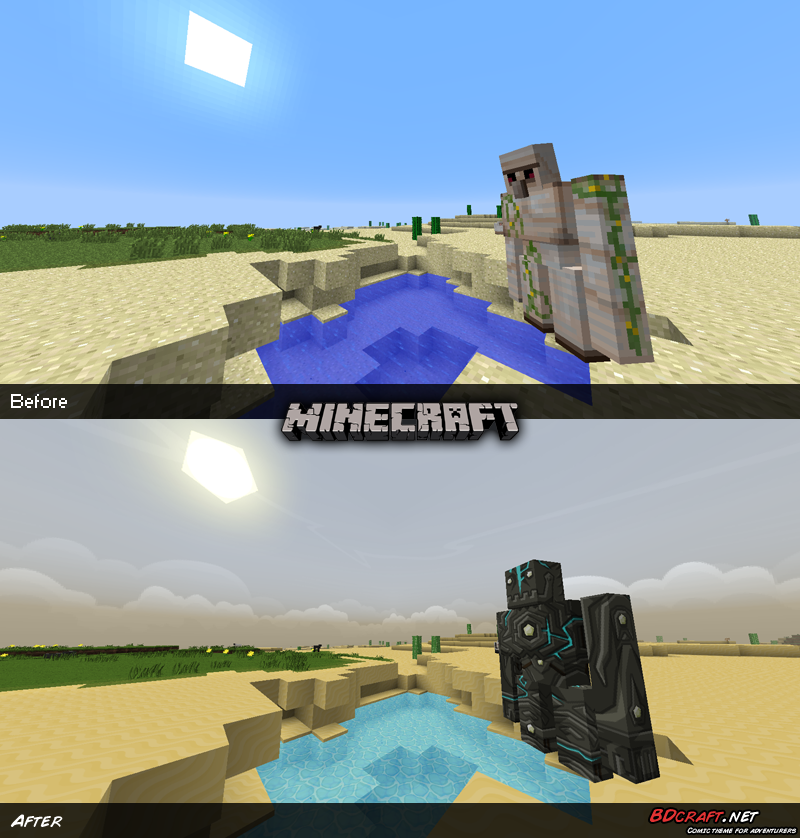 Minecraft Golem in Desert Default / PureBDcraft